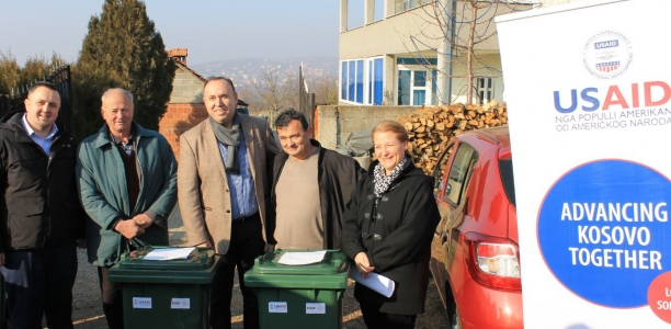 USAID Equips 14 Villages of Kilnë/Klina with Household Waste Containers